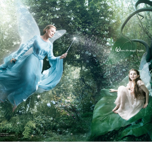 Julie Andrews as the Blue Fairy
