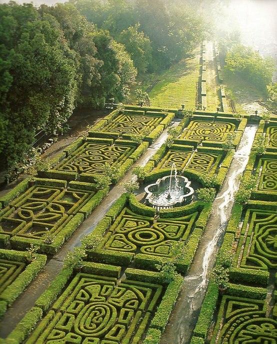 Maze Gardens at Ruspoli Castle, Lazio, Italy