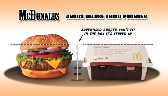 McDonalds - Angus Deluxe Third Pounder Box