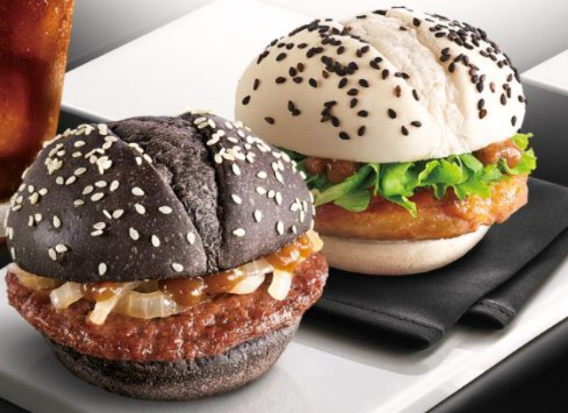 McDonald's Black & White Burgers in Taiwan