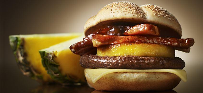McDonald's Gold Ring Burger in Japan