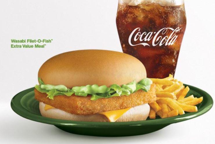 McDonald's Wasabi Filet-O-Fish Burger in Singapore