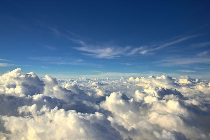 10. You could ride an endless sea of clouds with a window seat