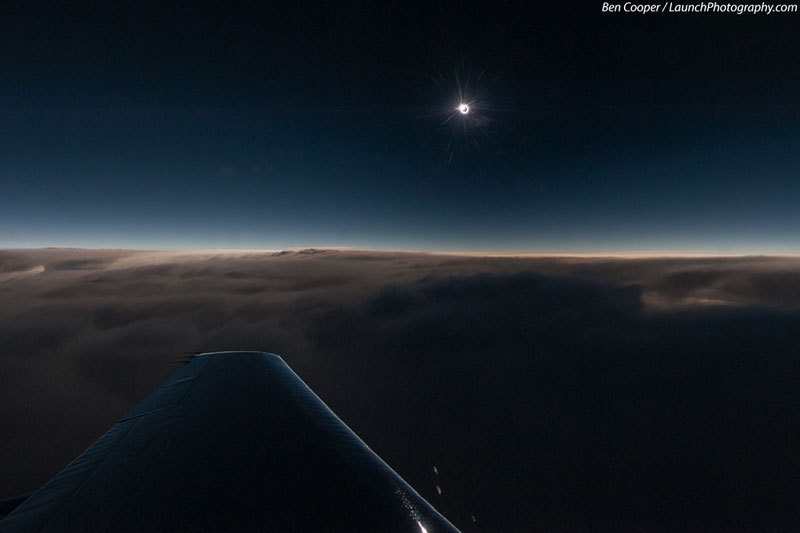 3. Because a solar eclipse at 44000 ft is pretty cool