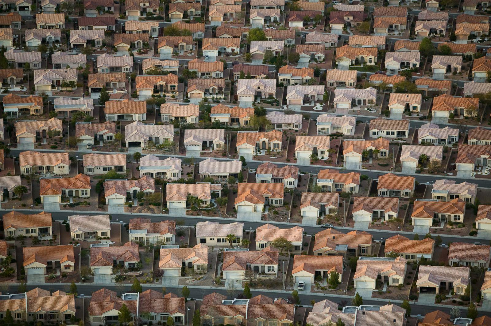 An adobe housing development in Las Vegas, Nevada