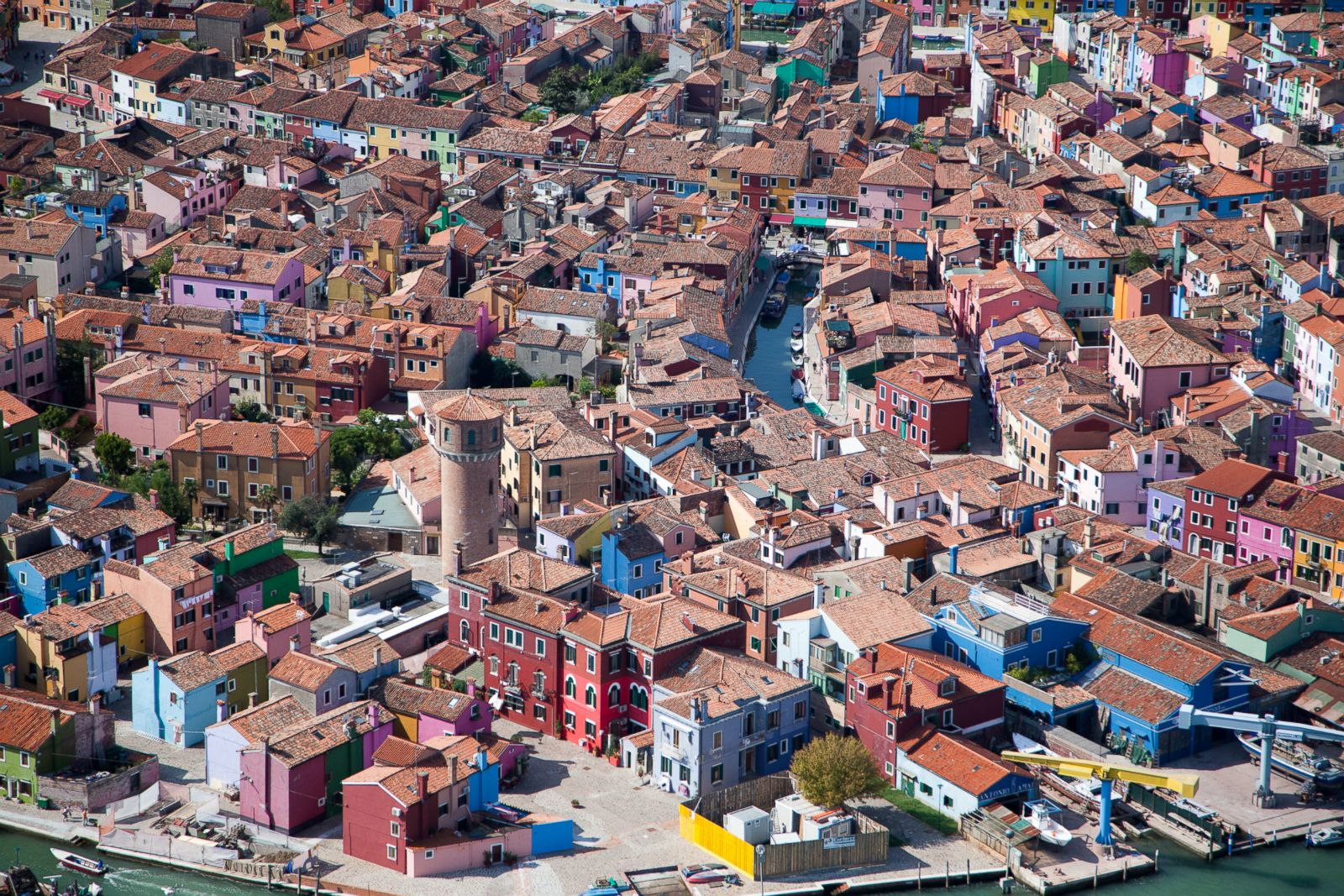 Brightly painted houses in Burano, Italy