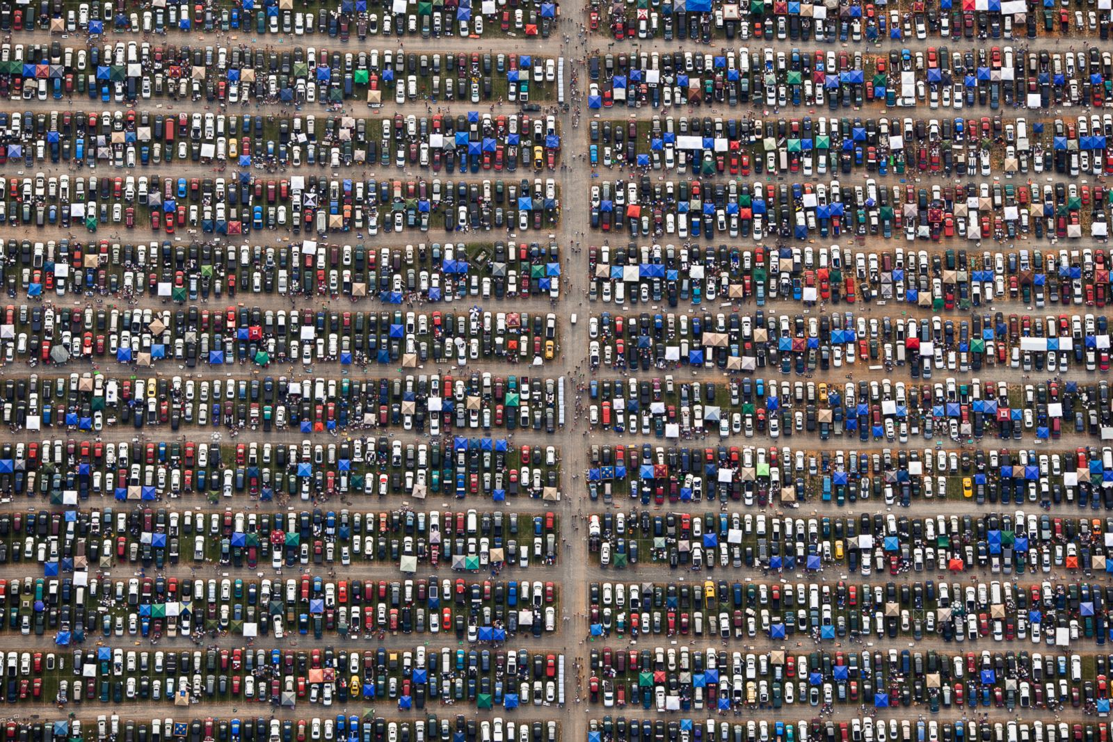 Cars parked at a Nascar event in Richmond, Virginia