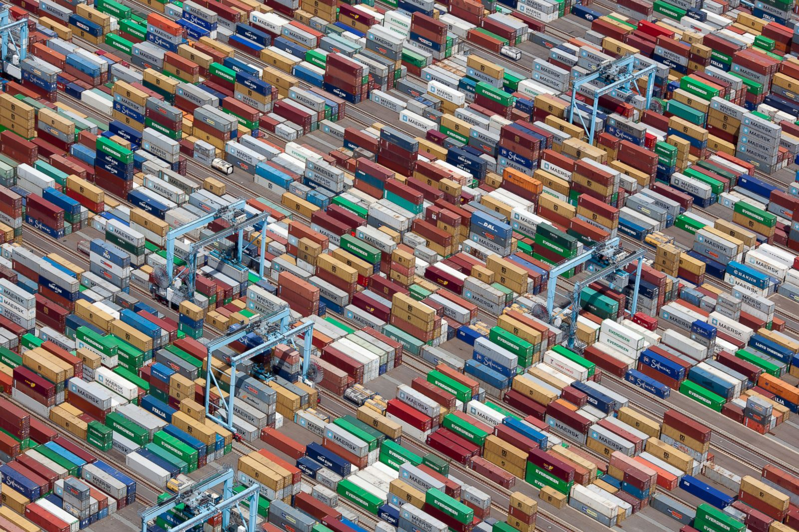 Colorful shipping containers in Portsmouth, Virginia