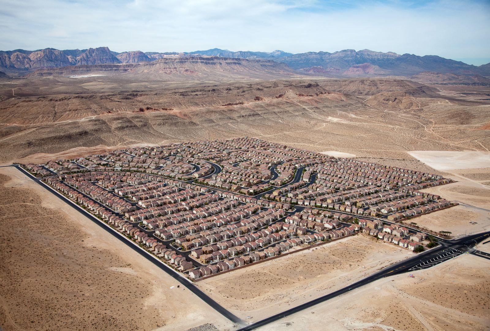 Desert Housing Block in Las Vegas, Nevada