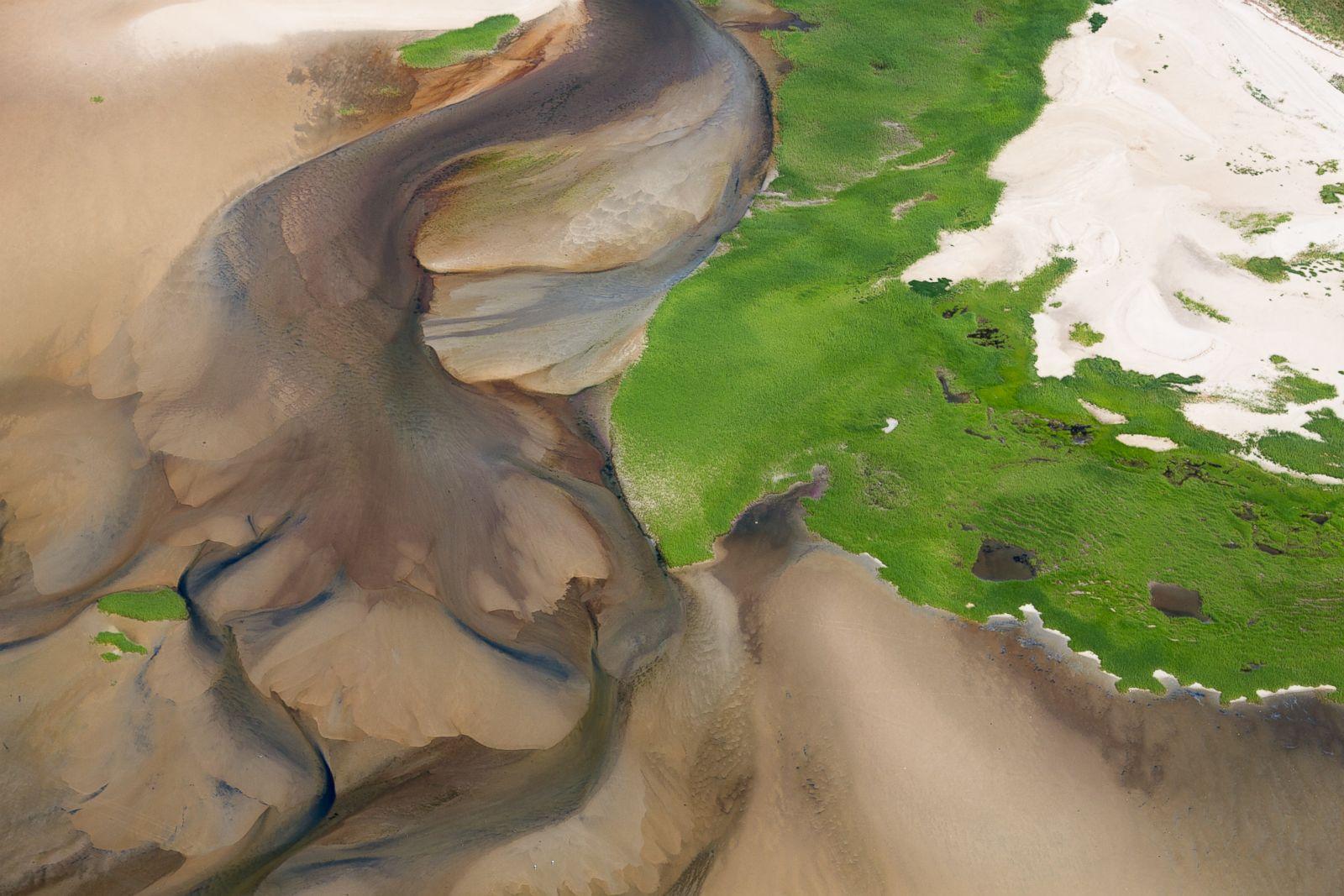 Estuarine sand plumes, Wellfleet, Massachussetts