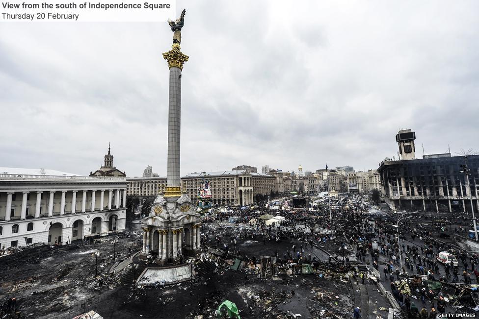 Kiev's Independence Square in Ukraine 3