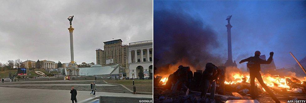 Kiev's Independence Square in Ukraine 4