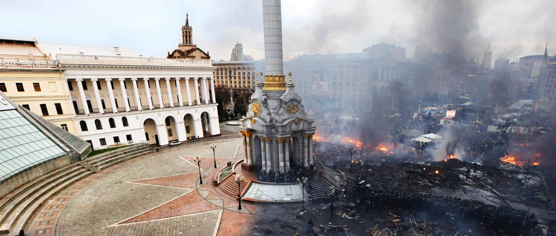 Kiev's Independence Square in Ukraine