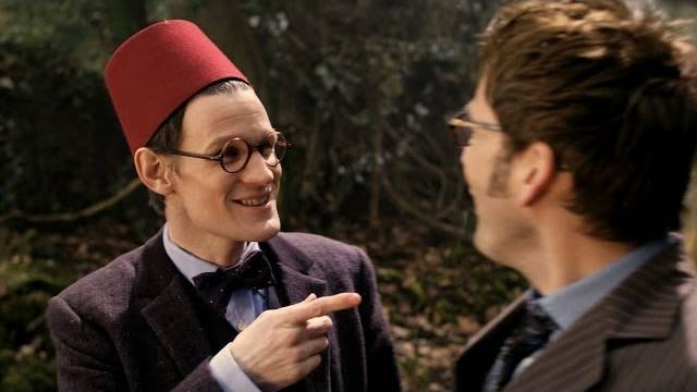 Matt Smith and David Tennant in BBC's 'The Day of the Doctor' special
