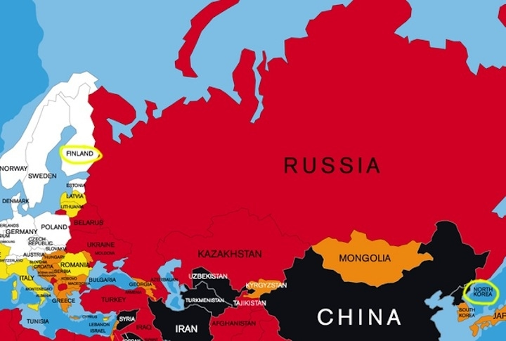 North Korea and Finland