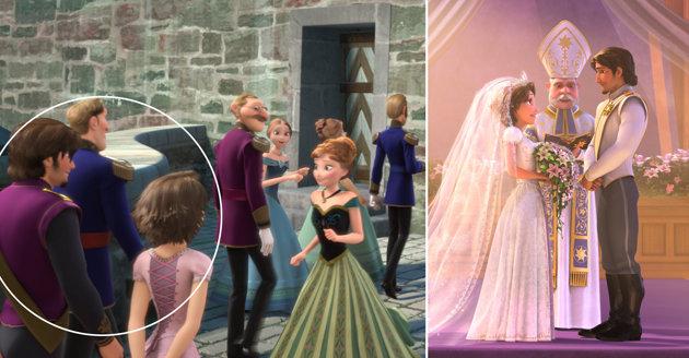 Rapunzel and Flynn Rider in Frozen