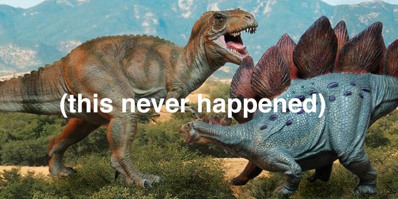 Stegosaurus and the Tyrannosaurus Rex