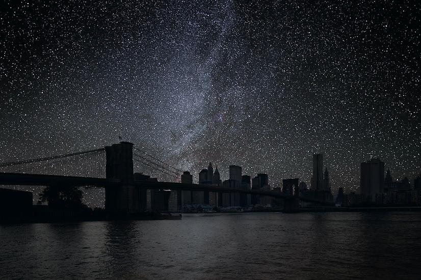 Viralscape Cities Without Lights - 8. The Brooklyn Bridge New York City