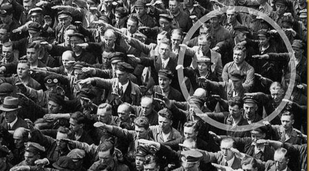 August Landmesser, The Man Who Refused To Salute Hitler.