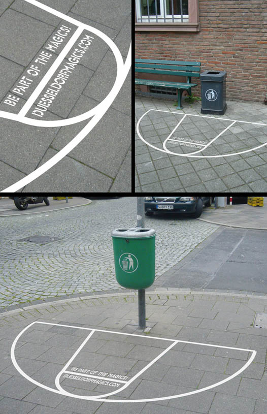 basketball-court-sticker-placed-around-garbage-cans-to-make-throwing-out-litter-a-game
