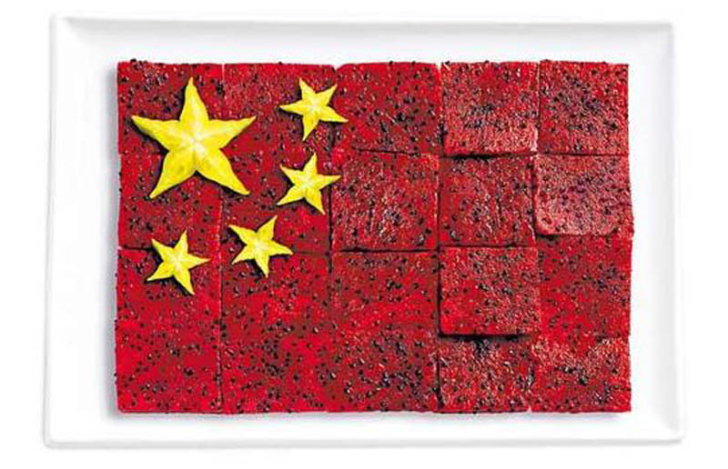 china-flag-made-from-food