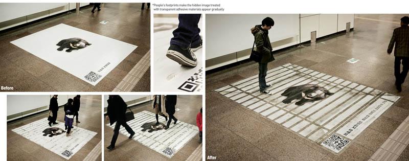 footprint-sticker-so-panda-bear-looks-behind-cage-as-it-gets-dirtier