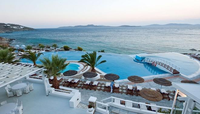 infinity pool at Saint John Mykonos in Greece