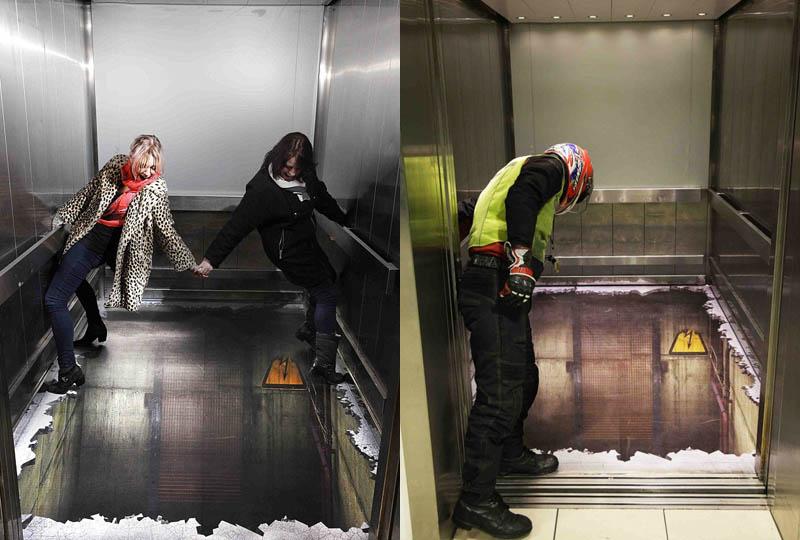 sticker-on-floor-of-elevator-makes-it-look-like-elevator-shaft