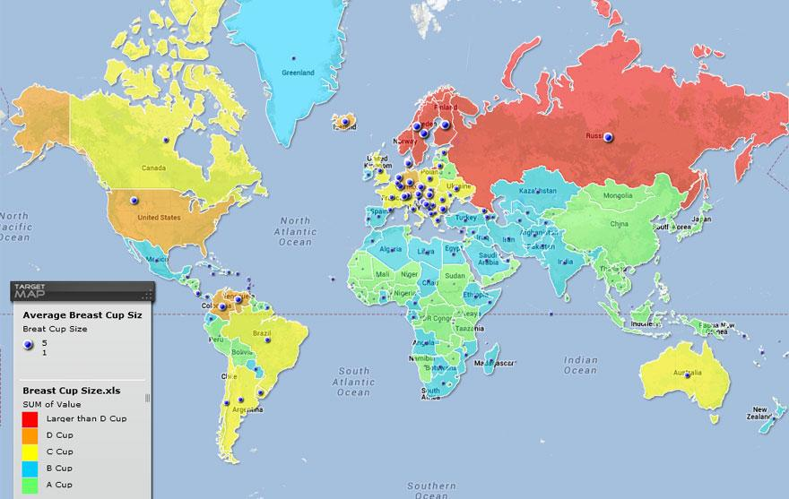 Average Breast Sizes By Country