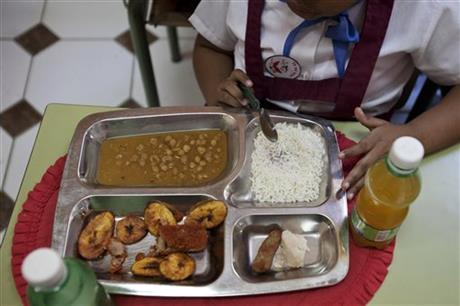 Cuba school lunch