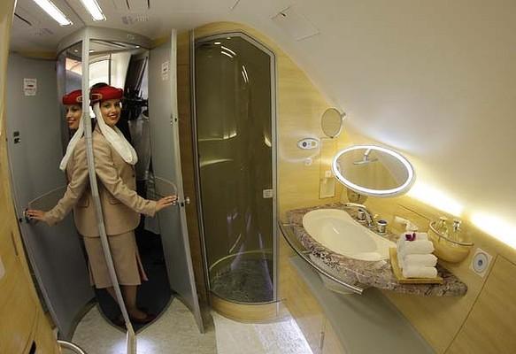 Emirates First Class Bathroom