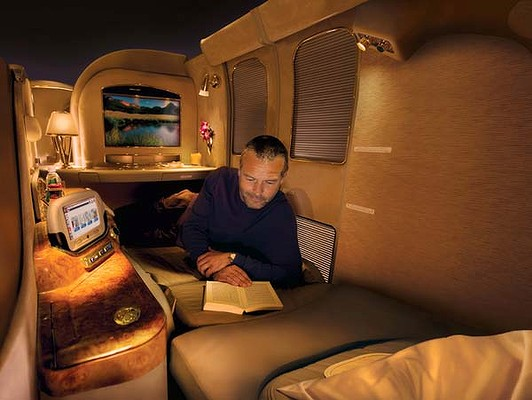 Emirates First Class Suite On A380 Superjumbo