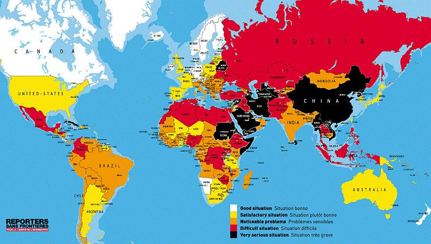 Freedom Of Press By Country