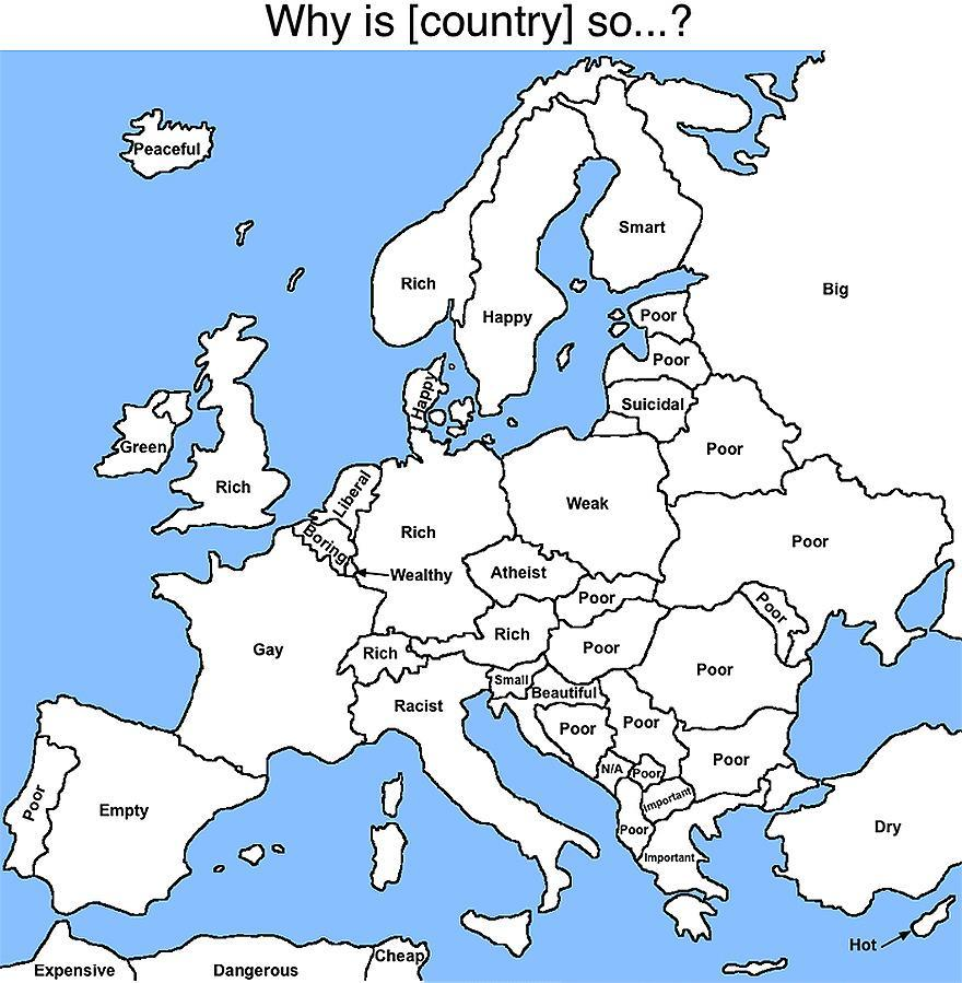 Google Autocomplete Results For European Countries