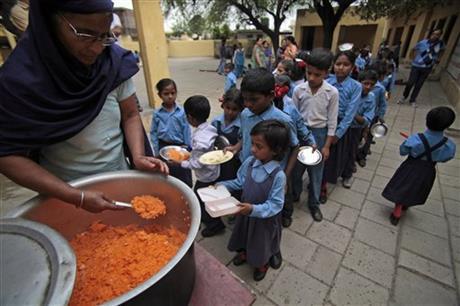 India school lunch