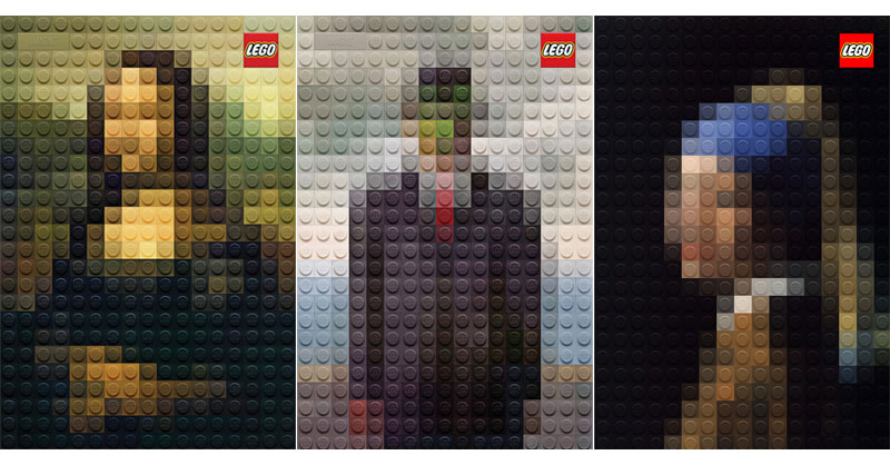LEGO Version Of Famous Paintings