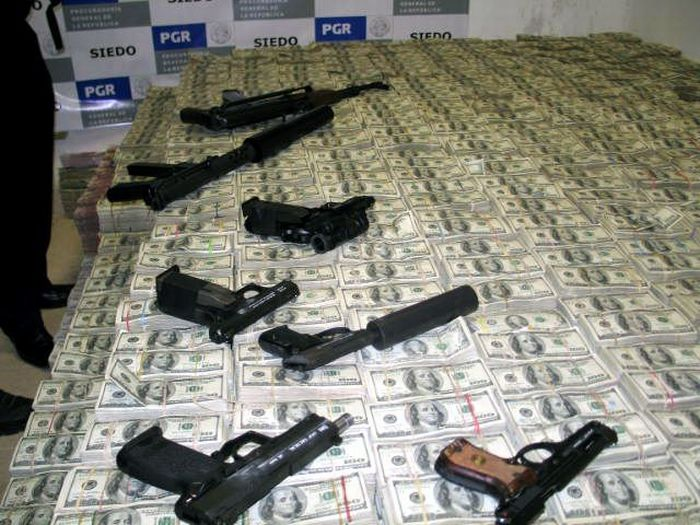 Mexican Drug Lord Home - Guns were hidden all over the house along with ample ammo just in case of trouble