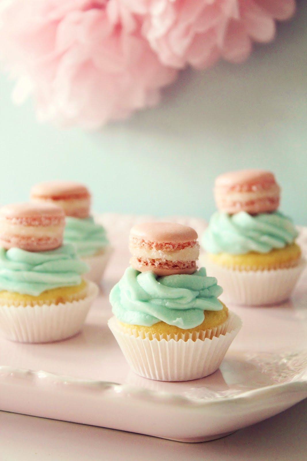 Mini Macaron Cupcake Toppers