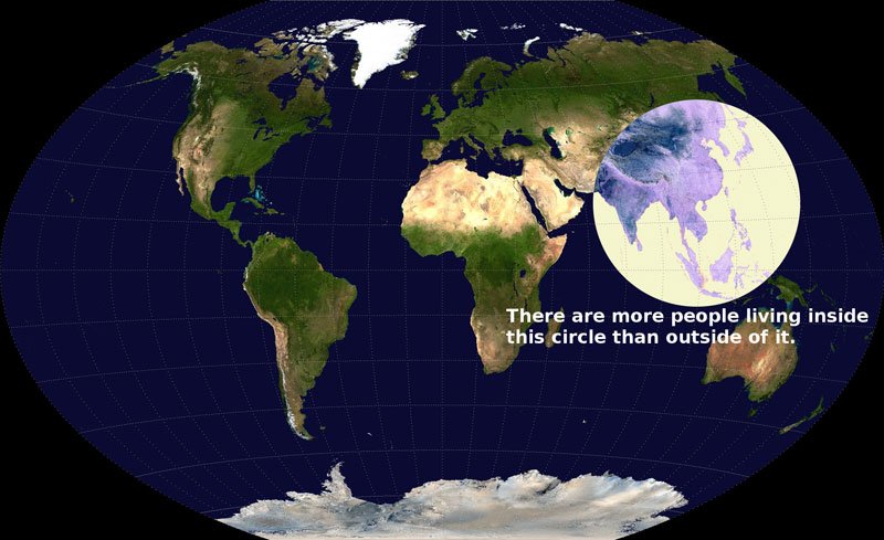 More People Live Inside This Circle Than Outside Of It