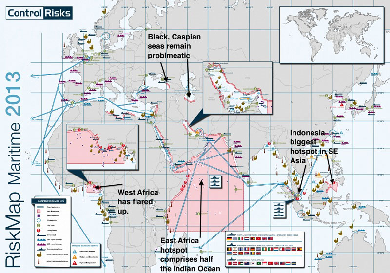 Most Dangerous Areas In The World To Ship Due To Pirates
