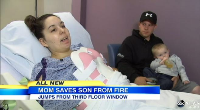 Mother Christina Simoes Saves Baby In Fire (4)