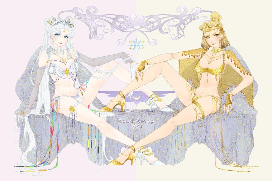 Queen Serenity & Golden Queen Galaxia