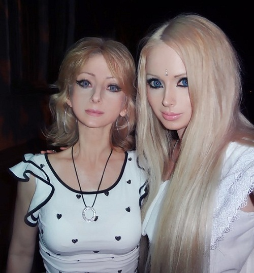 Real-Life Barbie Valeria Lukyanova With Her Mother