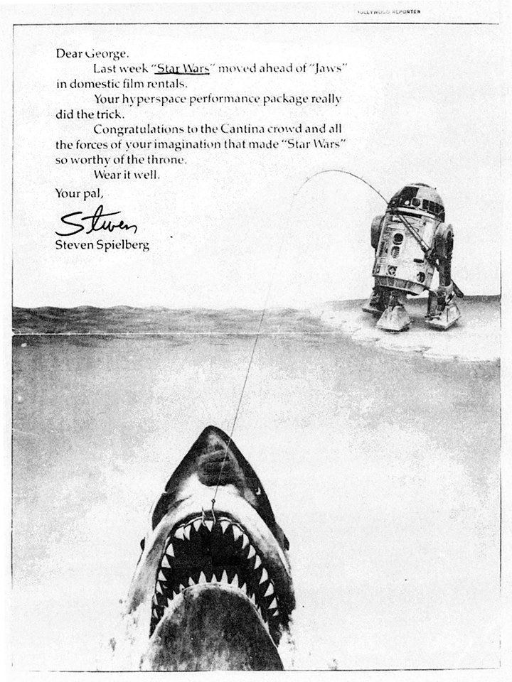 Steven Spielberg's Ad Congratulating George Lucas For Star Wars