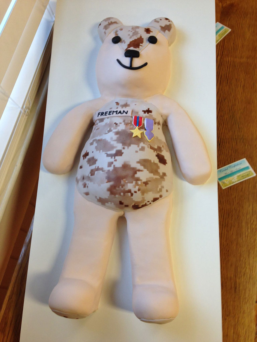 Teddy Bear Made Of Soldier's Uniform (1)