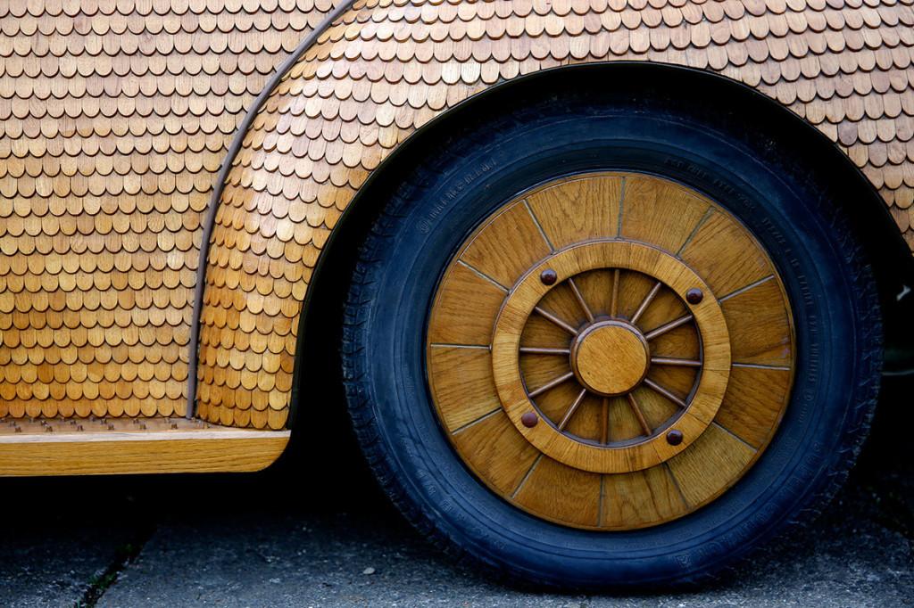 Wooden Volkswagen Beetle (3)