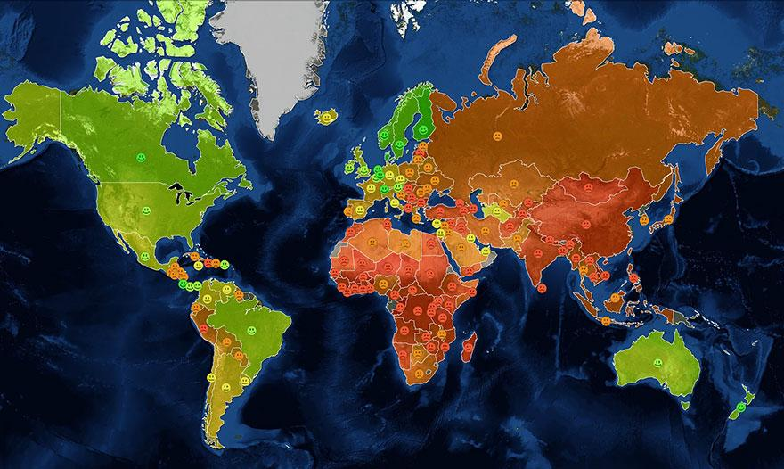 World Happiness Map