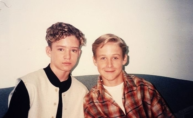 Young Justin Timberlake and Ryan Gosling