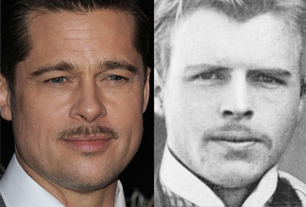 Brad Pitt Looks Like Herman Rorschach