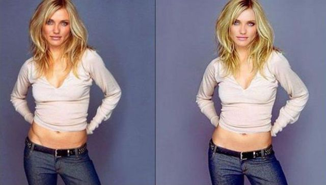 Cameron Diaz Before & After Photoshop